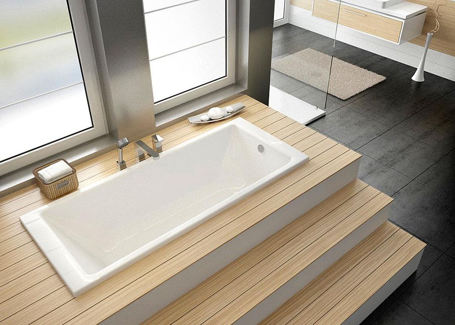 Modello di vasca da bagno piccolo e moderna n.10