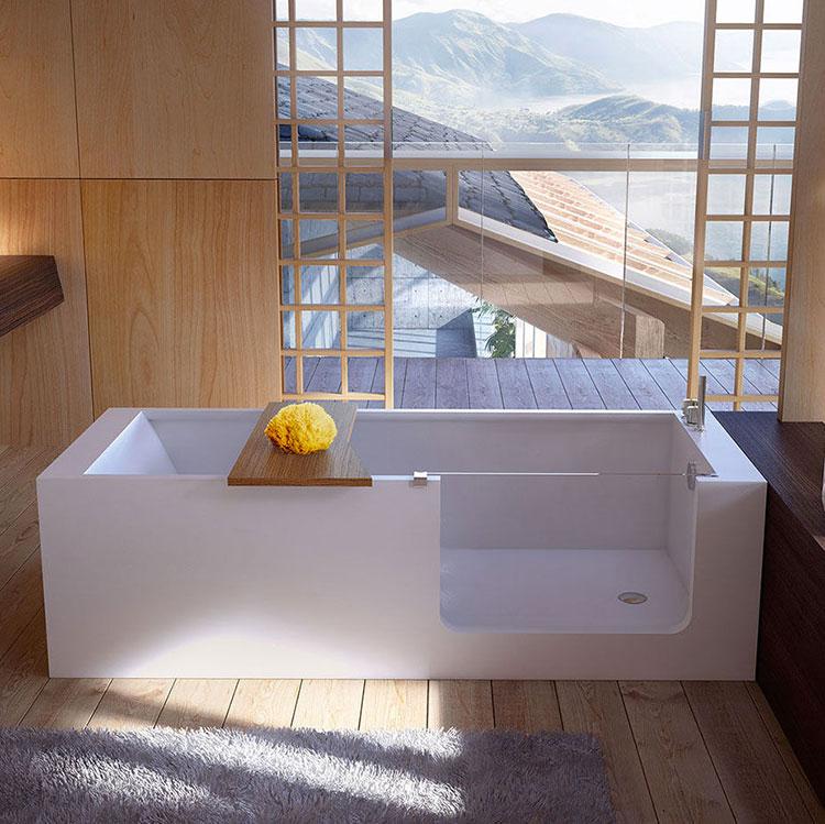 20 vasche da bagno piccole e dal design moderno - Vasca da bagno libera installazione ...