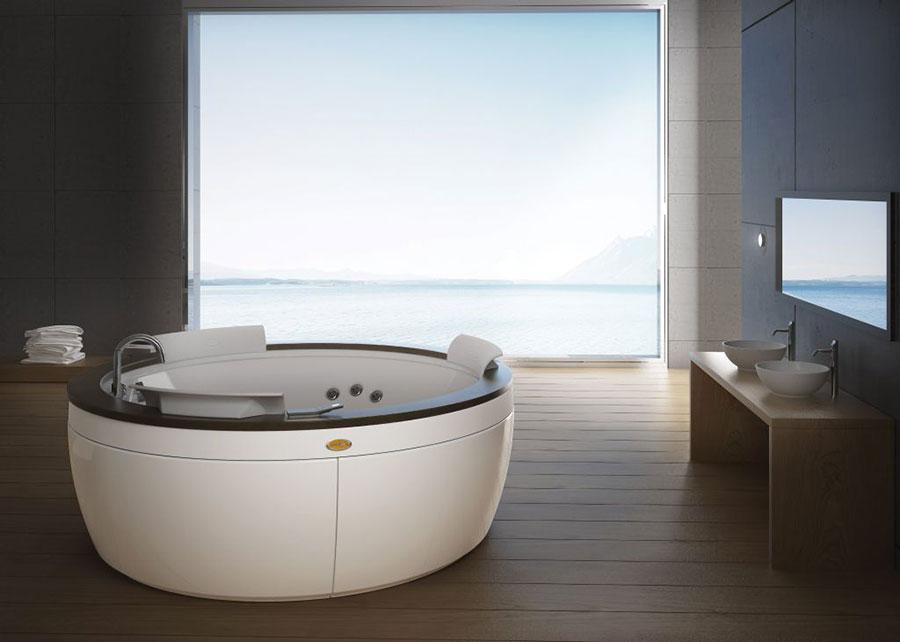 Modello di vasca da bagno piccolo e moderna n.17