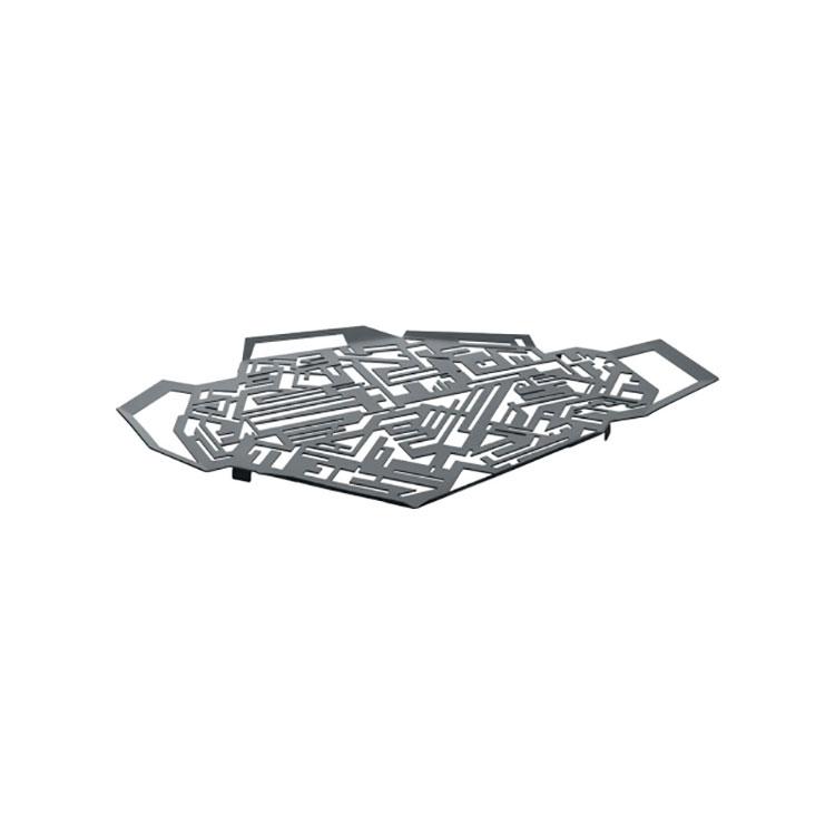 Modello di vassoio in acciaio dal design particolare n.01