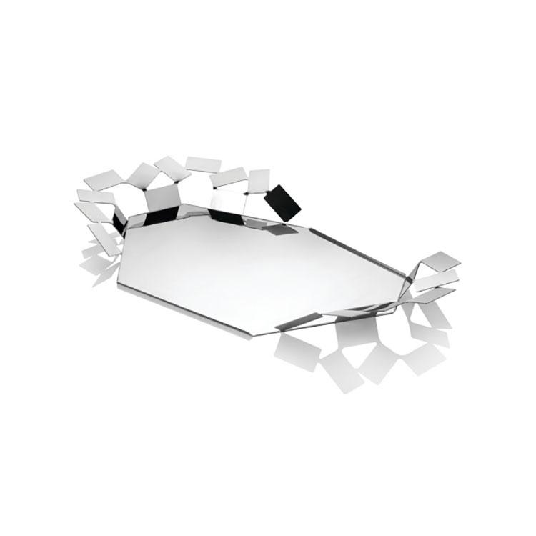 Modello di vassoio in acciaio dal design particolare n.02