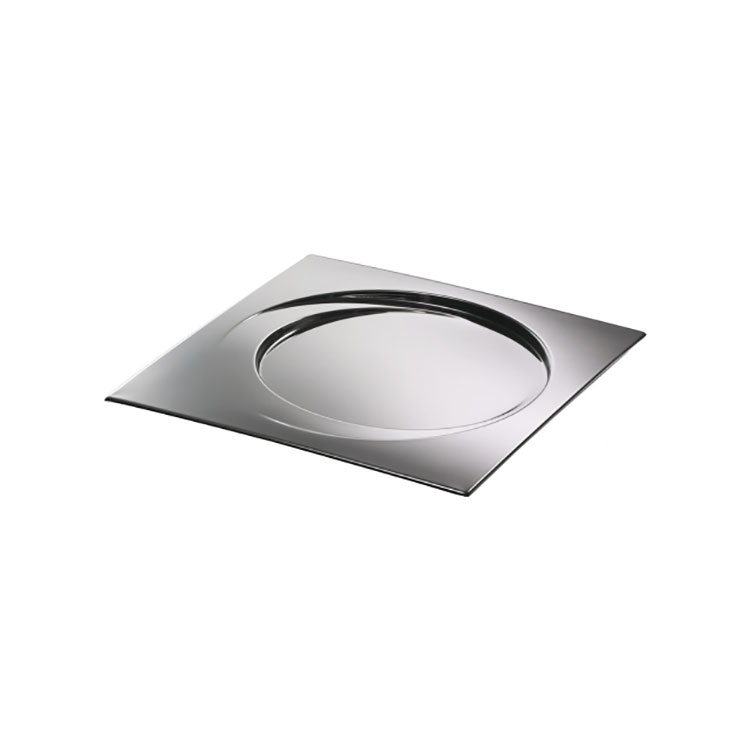 Modello di vassoio in acciaio dal design particolare n.03