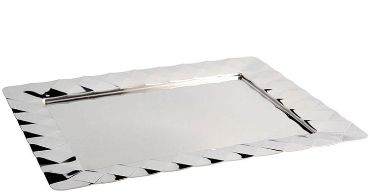 Modello di vassoio in acciaio dal design particolare n.11