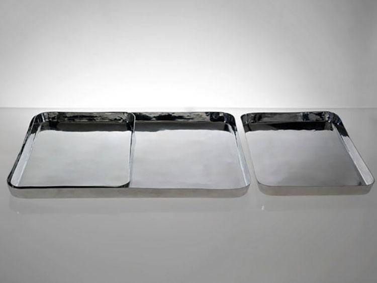 Modello di vassoio in acciaio dal design particolare n.14