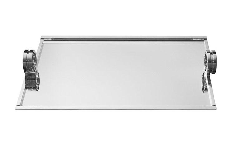 Modello di vassoio in acciaio dal design particolare n.18