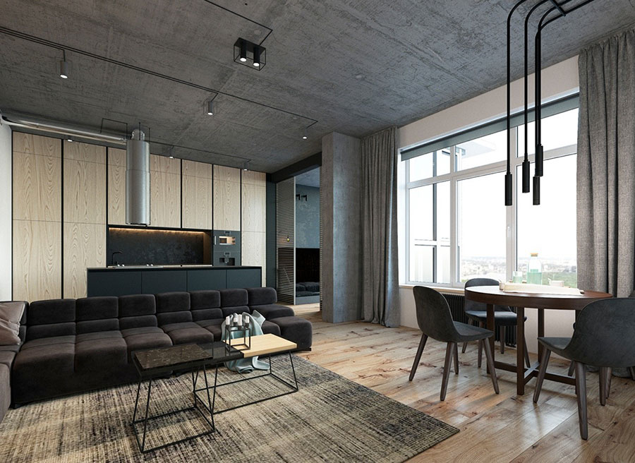 Idea per arredare un loft open space n.13