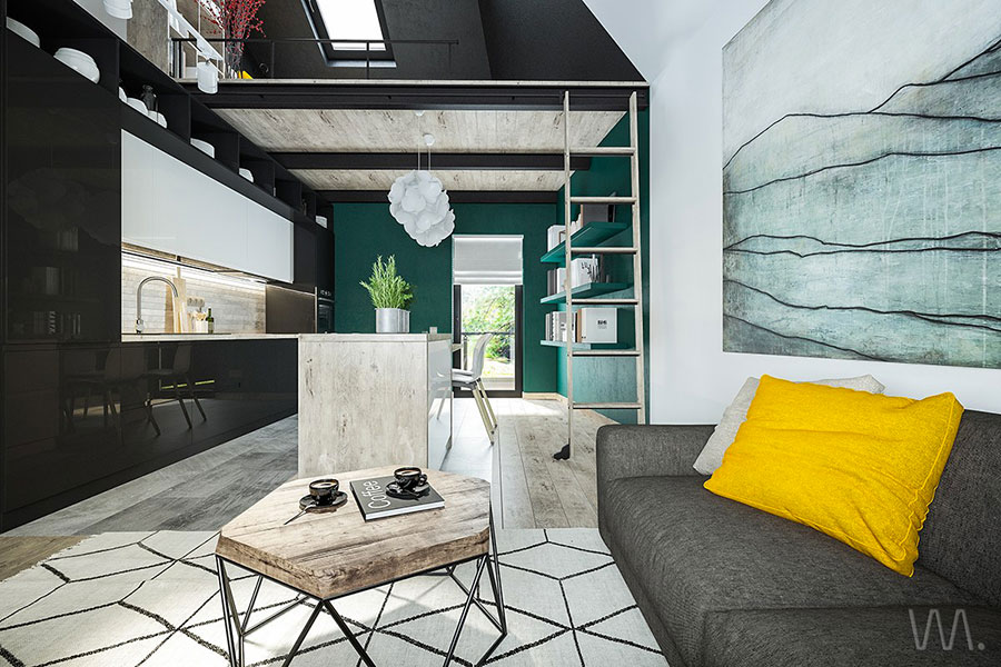 Idea per arredare un loft open space n.26