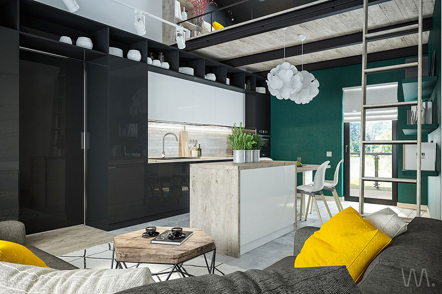 Idea per arredare un loft open space n.29