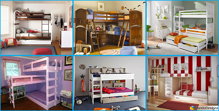 camerette per bambini con 3 letti: 25 idee di arredo originali ... - Idee Arredamento Originali