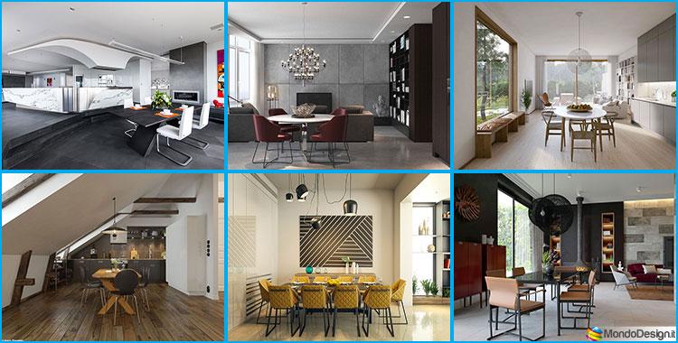 30 idee per arredare una sala da pranzo moderna for Foto di sale moderne