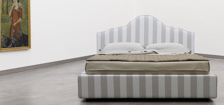 Letto shabby chic in tessuto n.03