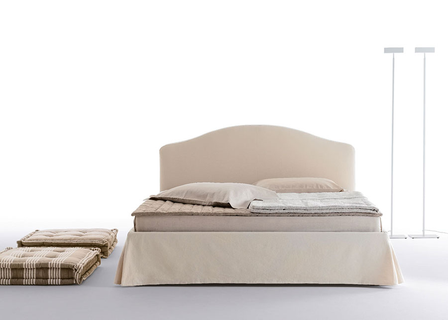 Letto shabby chic in tessuto n.05