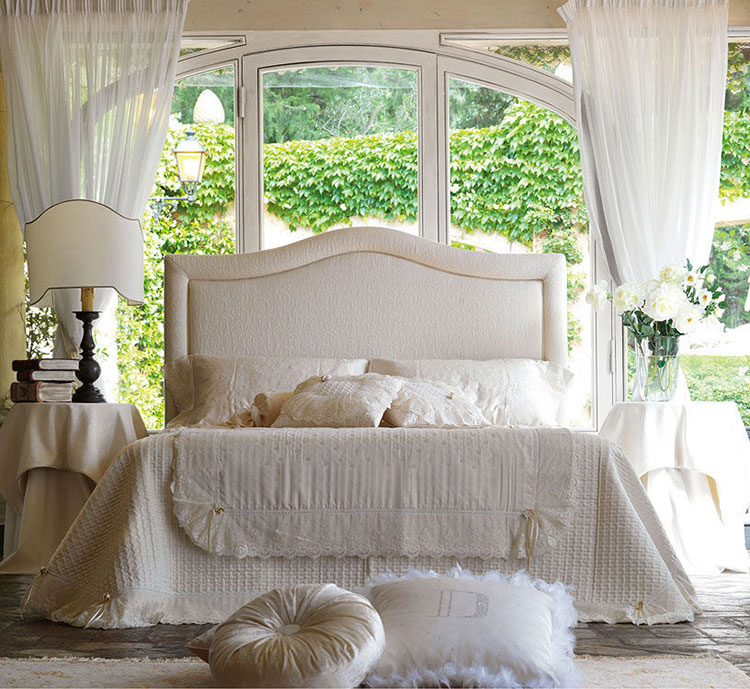 Letto shabby chic in tessuto n.06