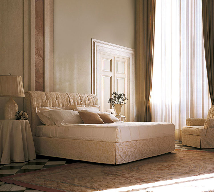 Letto shabby chic in tessuto n.07