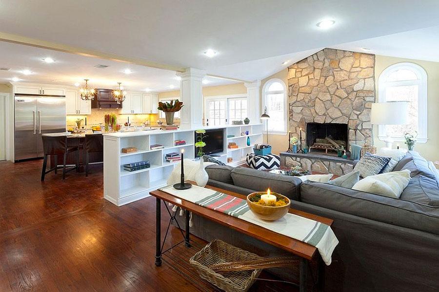 Come separare gli ambienti con mobili e pareti divisorie n.03