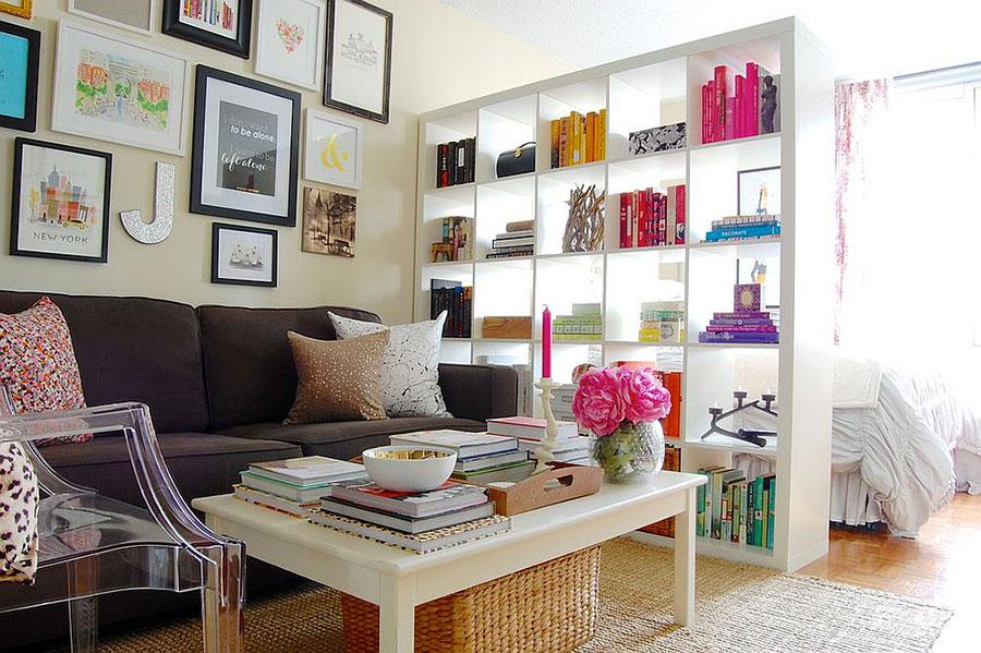 Come separare gli ambienti con mobili e pareti divisorie n.07