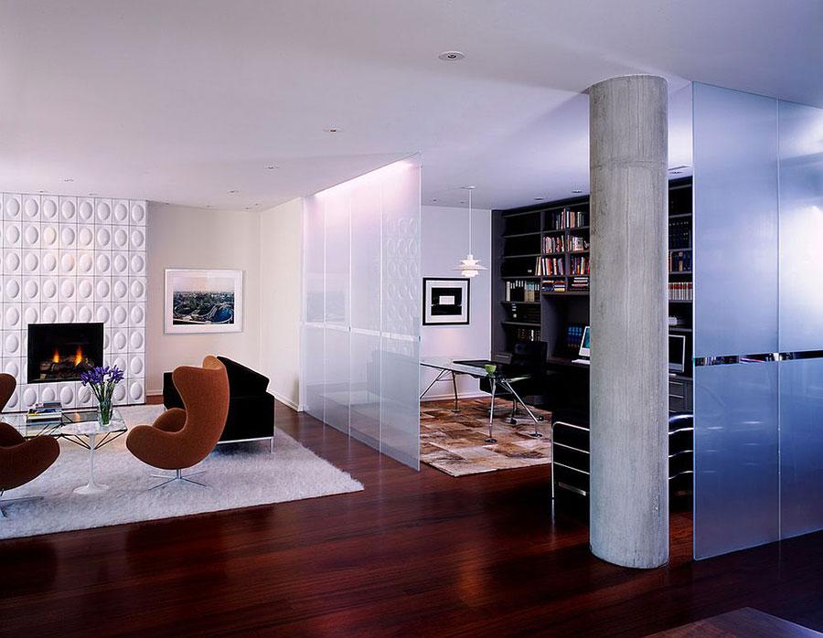 Come separare gli ambienti con mobili e pareti divisorie n.13