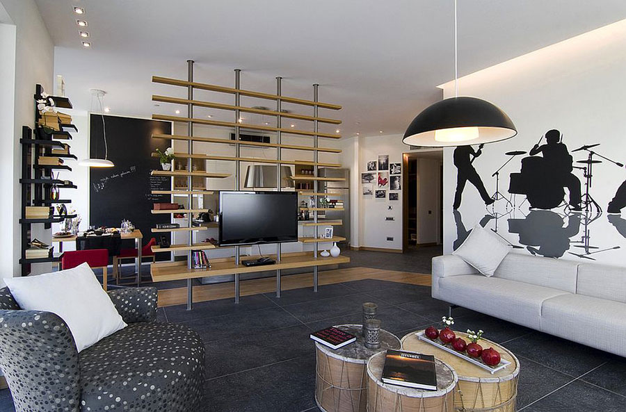 Come separare gli ambienti con mobili e pareti divisorie n.18