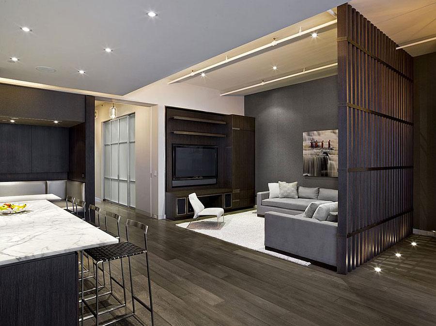 Come separare gli ambienti con mobili e pareti divisorie n.19