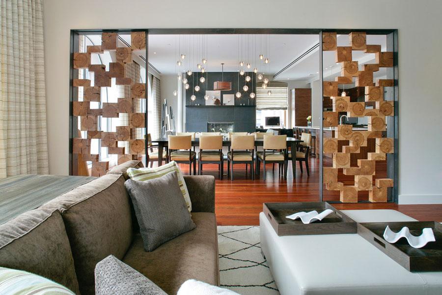 Come separare gli ambienti con mobili e pareti divisorie n.22