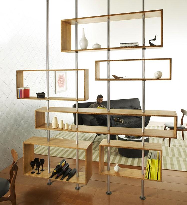 Mobili e pareti divisorie 25 idee per separare gli for Mobili wooden art