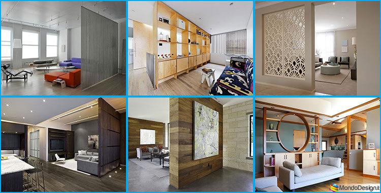 Mobili e pareti divisorie 25 idee per separare gli for Idee colori pareti ingresso
