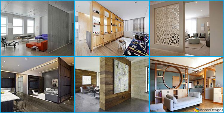 Mobili e pareti divisorie 25 idee per separare gli for Elementi divisori per interni