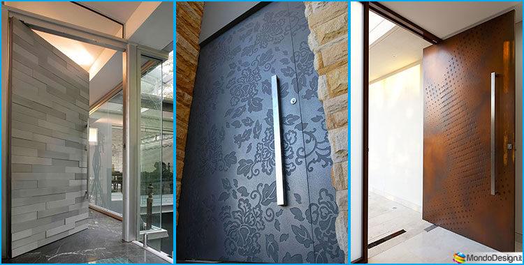 35 porte di ingresso moderne dal design unico for Case moderne di design