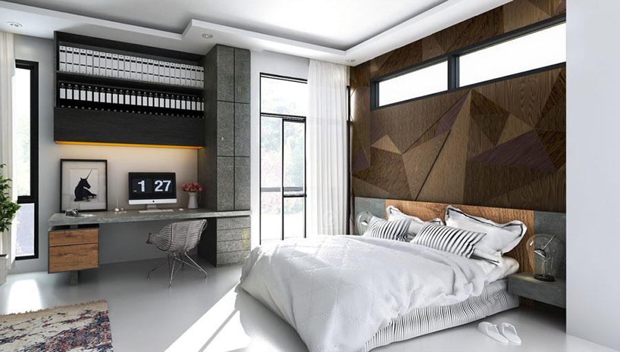 Modello di rivestimento da parete per camera da letto n.01