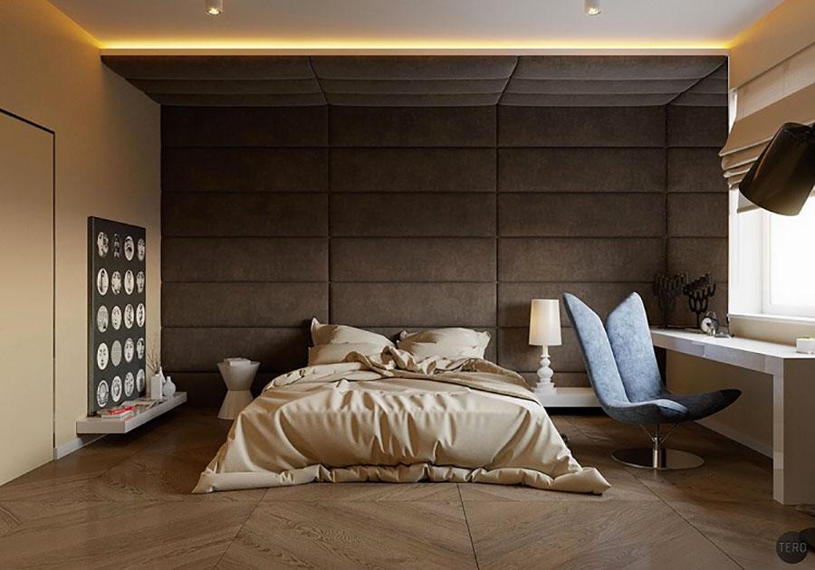 Modello di rivestimento da parete per camera da letto n.03