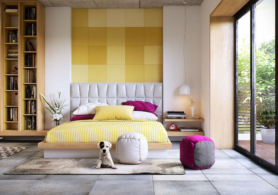 Modello di rivestimento da parete per camera da letto n.04