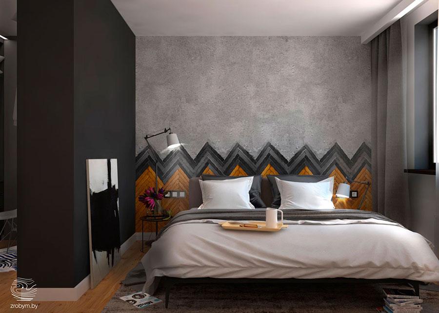 Modello di rivestimento da parete per camera da letto n.05