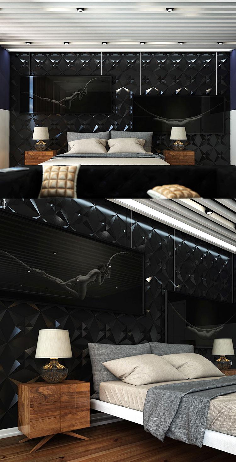 Modello di rivestimento da parete per camera da letto n.11