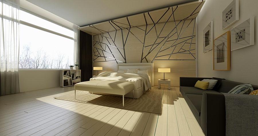 Modello di rivestimento da parete per camera da letto n.13