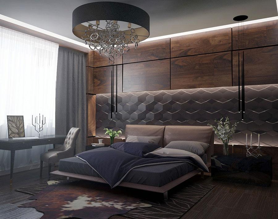 Modello di rivestimento da parete per camera da letto n.14