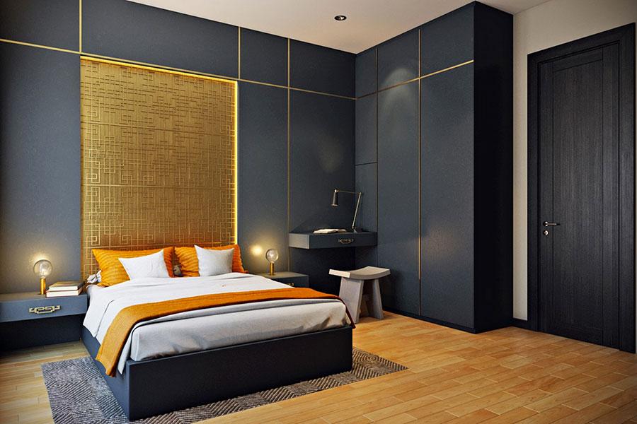 Modello di rivestimento da parete per camera da letto n.17