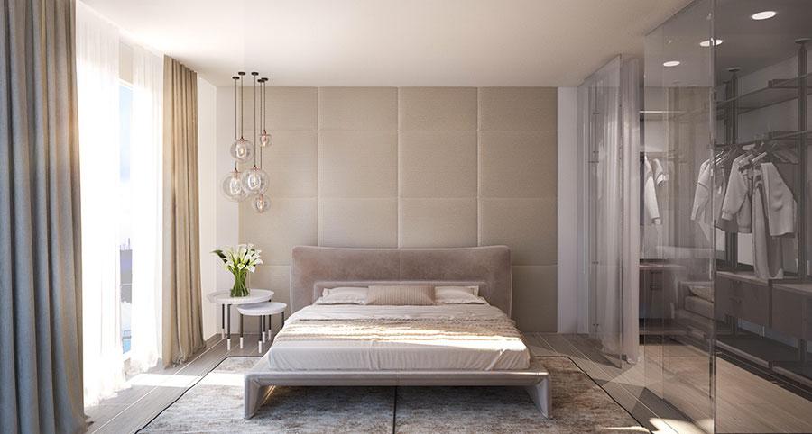 Modello di rivestimento da parete per camera da letto n.18
