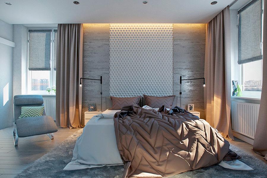 Modello di rivestimento da parete per camera da letto n.19