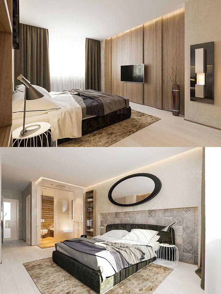 Modello di rivestimento da parete per camera da letto n.20