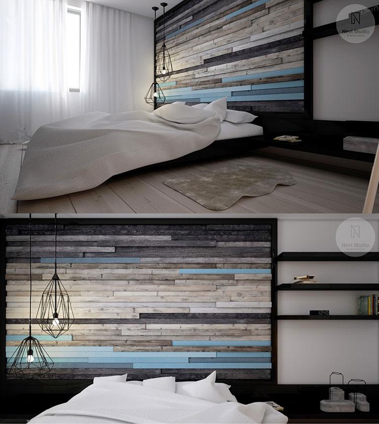 Modello di rivestimento da parete per camera da letto n.22