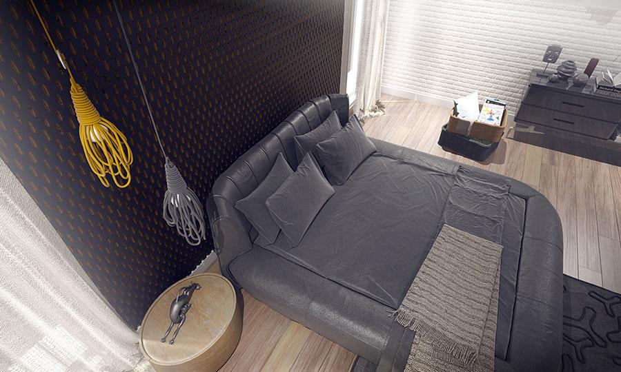 Modello di rivestimento da parete per camera da letto n.26