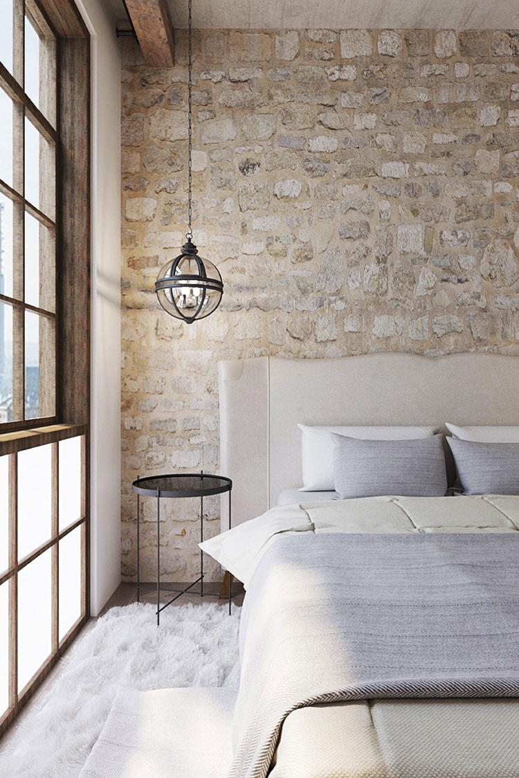 Modello di rivestimento da parete per camera da letto n.27