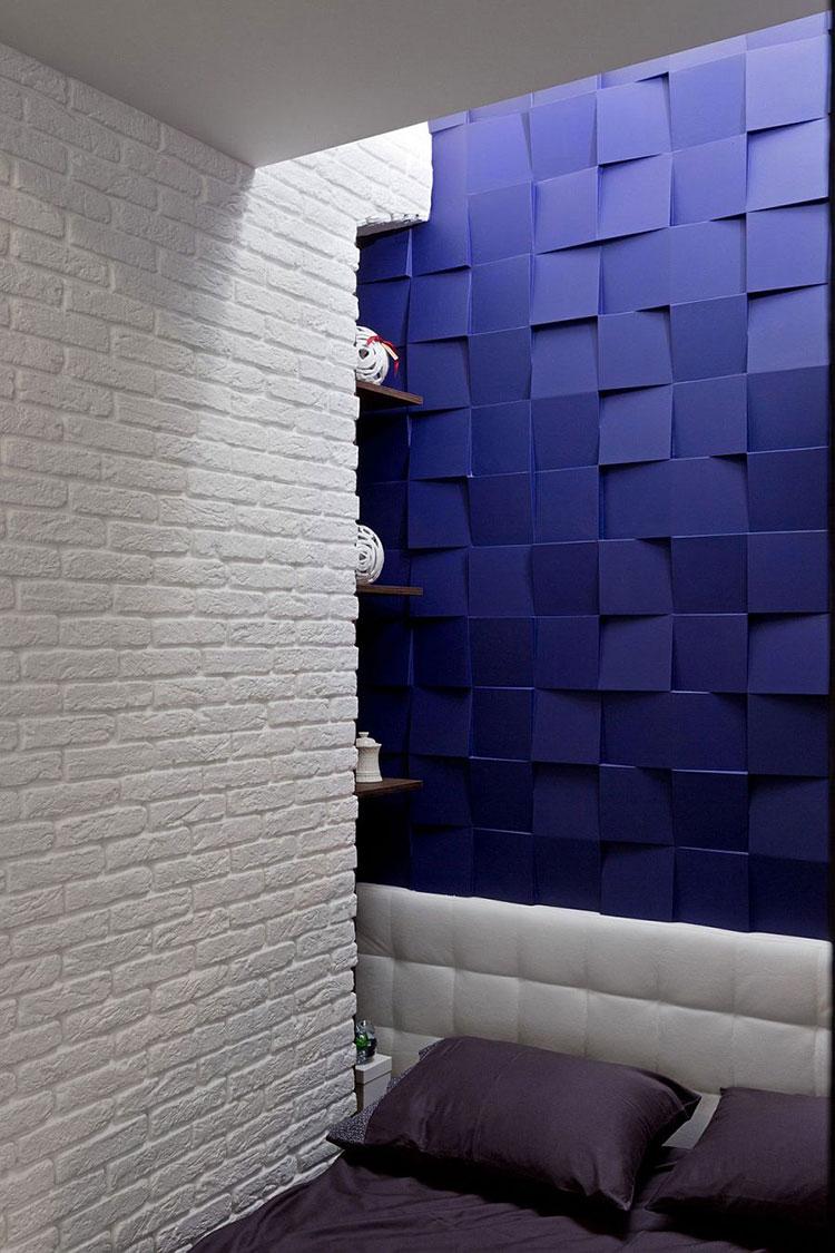 Modello di rivestimento da parete per camera da letto n.28