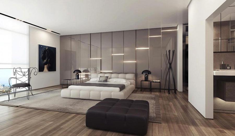 Modello di rivestimento da parete per camera da letto n.29