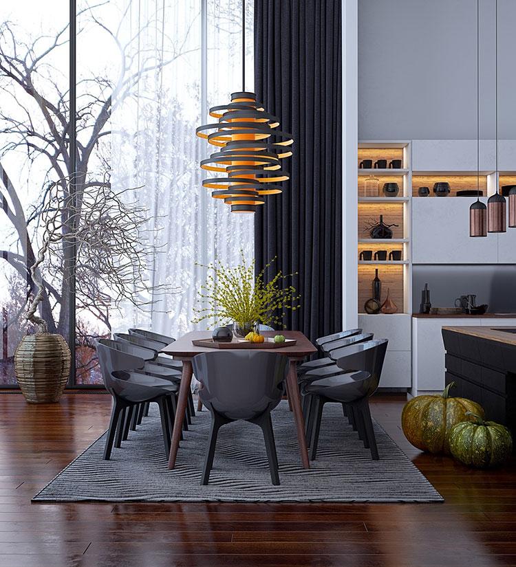 30 idee per arredare una sala da pranzo moderna for Arredamenti sala da pranzo