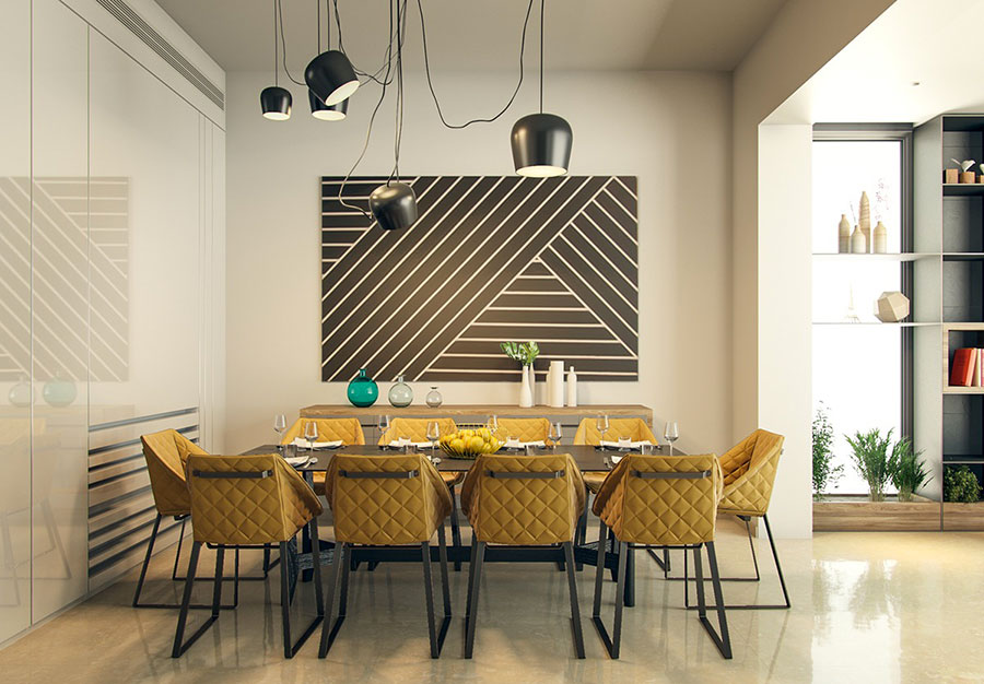 Arredamento per sala da pranzo moderna n.06