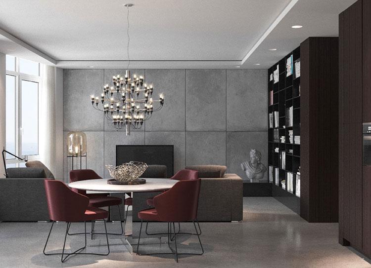 30 idee per arredare una sala da pranzo moderna - Tende sala moderna ...