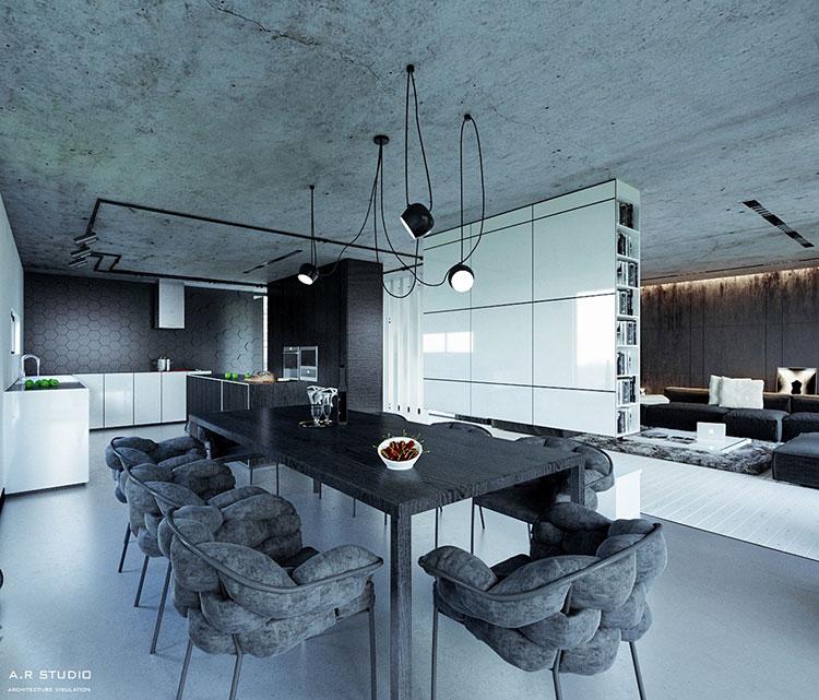 Arredamento per sala da pranzo moderna n.17