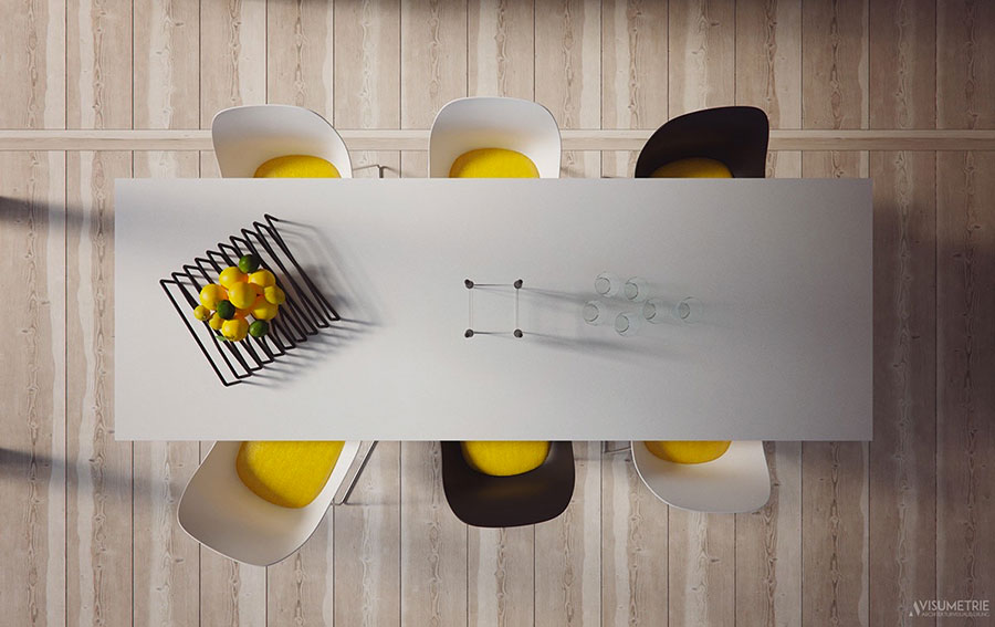 Arredamento per sala da pranzo moderna n.19