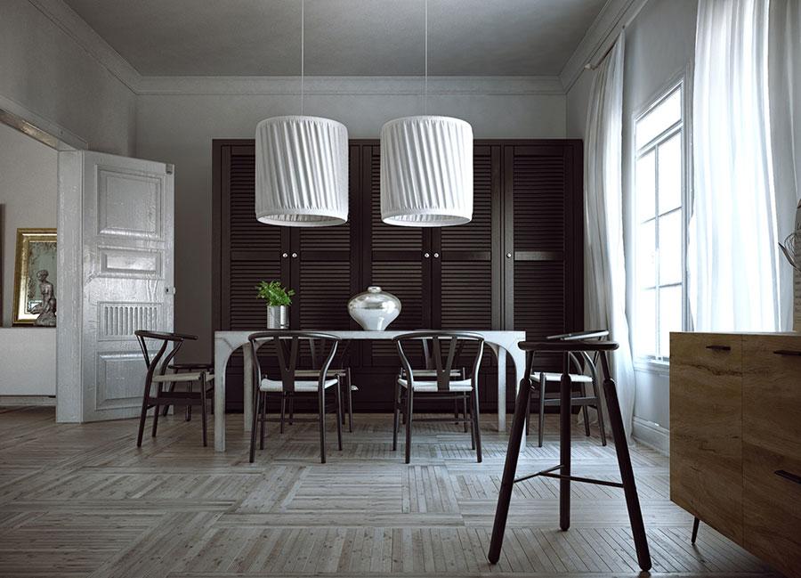 30 idee per arredare una sala da pranzo moderna for Mobili sala pranzo